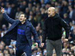 Frank Lampard and Pep Guardiola should still go head-to-head on Sunday (Martin Rickett/PA)