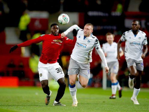 Former Colchester striker Luke Norris (right) could make his Stevenage debut against Swansea (Martin Rickett/PA)