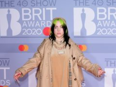 Billie Eilish (Ian West/PA)