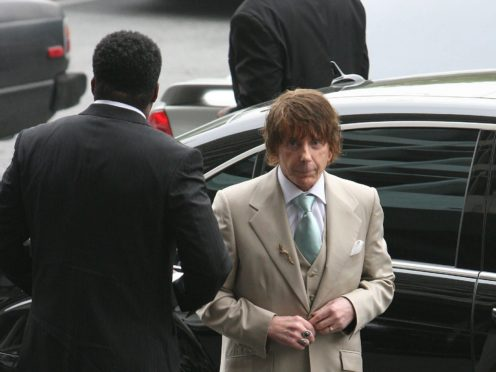 Phil Spector arrives at the Foltz Criminal Justice Centre for his retrial for the alleged murder of Lana Clarkson.
