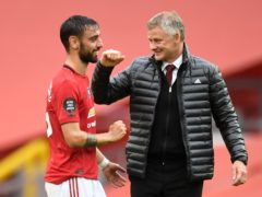 Ole Gunnar Solskjaer is delighted with Bruno Fernandes' impact at the club (Peter Powell/PA)