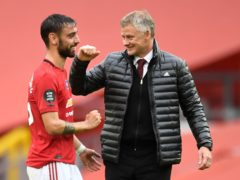 Bruno Fernandes (left) delivered for his manager Ole Gunnar Solskjaer on Sunday (Peter Powell/PA)