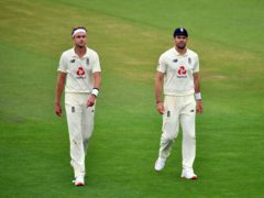 James Anderson, right, replaces Stuart Broad, left, for the second Test (Glyn Kirk/PA)