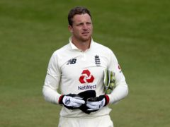 Jos Buttler celebrated a first Test stumping (Alastair Grant/PA)