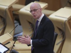 John Swinney announced the funding boost in a virtual meeting of parliament on Tuesday (Fraser Bremner/Scottish Daily Mail/PA)