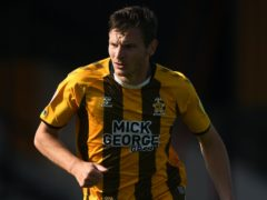 Paul Mullin scored for Cambridge in the win at Grimsby (Joe Giddens/PA)