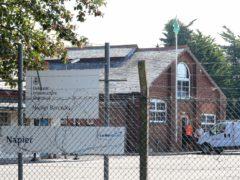 An asylum seeker has said conditions at Napier Barracks near Folkestone in Kent are 'unbearable' (Gareth Fuller/PA)