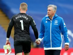 Everton manager Carlo Ancelotti will continue to rotate goalkeeper Jordan Pickford (Clive Rose/PA)