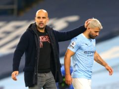 Sergio Aguero missed Manchester City's win against Birmingham as he was self-isolating, revealed Pep Guardiola (Alex Livesey/PA)