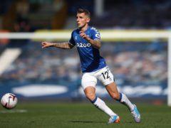 Everton defender Lucas Digne returns for the visit of Leicester (Nick Potts/PA)
