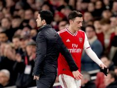 Mesut Ozil's last appearance for Arsenal was on March 7 against West Ham (John Walton/PA)