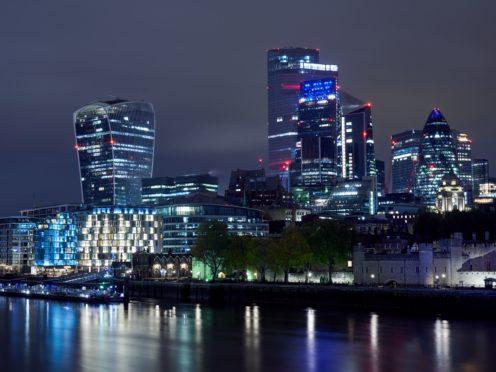 Looking across to the square mile financial district, London (John Walton/PA)