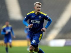 Joe Pigott opened the scoring for AFC Wimbledon (Bradley Collyer/PA)
