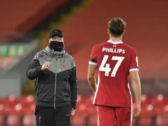 Liverpool defender Nathaniel Phillips will hope his performances mean manager Jurgen Klopp does not have to look for a transfer solution in defence (Peter Powell/PA)