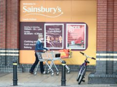 Sainsbury's saw a surge in Christmas sales as it benefited from the lockdown restrictions (Danny Lawson/PA)