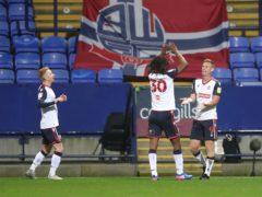 Eoin Doyle, right, scored a late equaliser for Bolton against Cheltenham (Martin Rickett/PA)