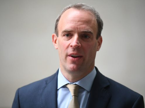 Foreign Secretary Dominic Raab has suggested Britain is open to the prospect of granting refuge to supporters of detained Kremlin critic and opposition leader Alexei Navalny (Victoria Jones/PA)