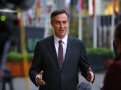 MEP David McAllister speaking to the media outside the European Parliament in Brussels, Belgium (Aaron Chown/PA)