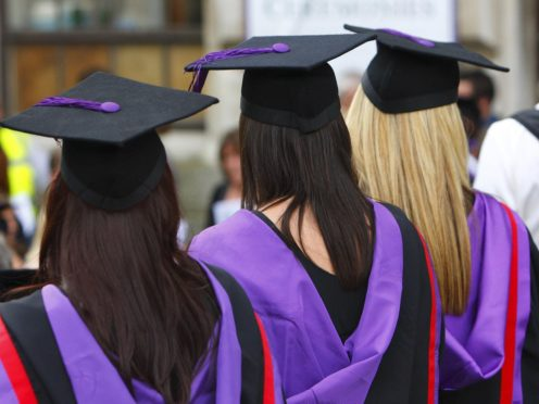 The average life satisfaction score for all students was 4.8 out of 10 (Chris Ison/PA)