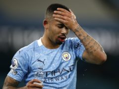 Manchester City will be without five players, including Gabriel Jesus, for Sunday's trip to Chelsea (Clive Brunskill/PA)