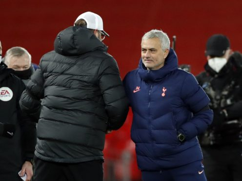 Jose Mourinho, right, says he is more harshly treated than others on the touchline (Clive Brunskill/PA)