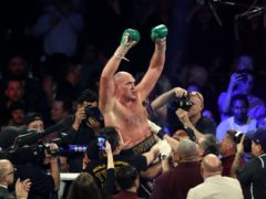 Tyson Fury has talked up his chances against Anthony Joshua (Bradley Collyer/PA)