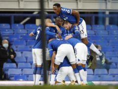 Everton manager Carlo Ancelotti said his players will continue to celebrate goals until they are ordered to stop (Clive Brunskill/PA)