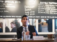 Rishi Sunak has received a letter from a consortium led by the British Frozen Food Federation (Stefan Rousseau/PA)
