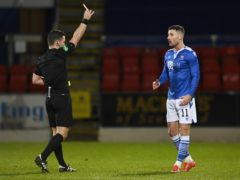 Michael O'Halloran was sent off against Rangers before Christmas (Rob Casey/PA)