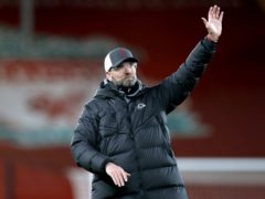 Liverpool manager Jurgen Klopp hopes the only way is up after the low point of a home defeat by Burnley (Clive Brunskill/PA)