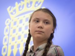 Greta Thunberg mocks 'happy old man' Donald Trump as he leaves White House (Stefan Rousseau/PA)