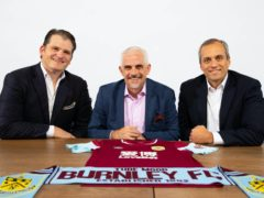 ALK Capital partners Mike Smith, Alan Pace and Stuart Hunt (Burnley handout)