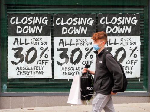 Households' confidence in their personal finances over the next 12 months and also in making major purchases deteriorated in January (Mike Egerton/PA)