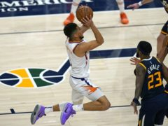 Devin Booker netted 25 points as his Phoenix Suns defeated the Utah Jazz (Rick Bowmer/AP)
