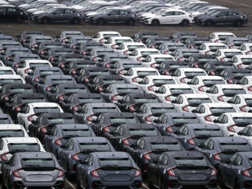 New cars at the port of Southampton, as the UK leaves the single market and customs union and the Brexit transition period comes to an end.