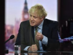 Prime Minister Boris Johnson appearing on The Andrew Marr Show (Jeff Overs/BBC/PA)