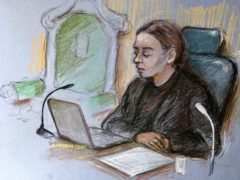 Court artist sketch of Judge Vanessa Baraitser (Elizabeth Cook)
