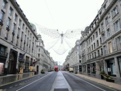 Oxford Street in London, the day after Prime Minister Boris Johnson set out further measures as part of a lockdown in England (Ian West/PA)