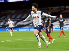 Son Heung-min was on the scoresheet as Tottenham booked their place in the Carabao Cup final (Adam Davy/PA)