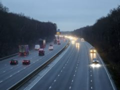 Traffic on the M3 motorway near Longcross in Surrey. Prime Minister Boris Johnson ordered a new national lockdown for England which means people will only be able to leave their homes for limited reasons, with measures expected to stay in place until mid-February.