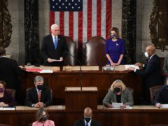 Vice President Mike Pence presides over a joint session of Congress (Saul Loeb/Pool via AP)
