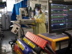 A nurse works on a computer in the Intensive Care Unit at St George's Hospital in Tooting, London (Victoria Jones/PA)