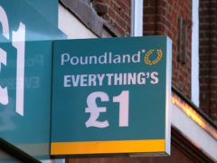 Poundland has posted a rise in festive sales thanks to its status as an essential retailer (PA)