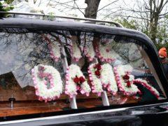 The funeral cortege of Dame Barbara Windsor (Ian West/PA)