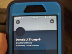 The deactivated Twitter account of President Donald Trump (Tali Arbel/AP)
