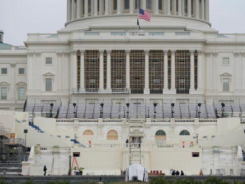 Preparations take place for President-elect Joe Biden's inauguration (Patrick Semansky/AP)