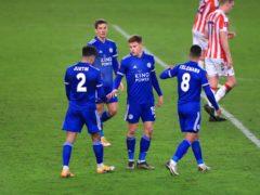 Leicester's Harvey Barnes scored the final goal against Stoke (Mike Egerton/PA)