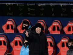 Zinedine Zidane's side were held by Osasuna (Alvaro Barrientos/AP)