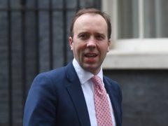 Matt Hancock has warned lockdown easing in England is a 'long, long, long way' off (Victoria Jones/PA)