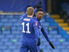 Chelsea's Callum Hudson-Odoi (right) and Timo Werner celebrate (John Walton/PA).
